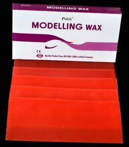 5pcs Dental Modelling Wax Pack Of 12 Sheets For 12 Dentures 200gm Pack