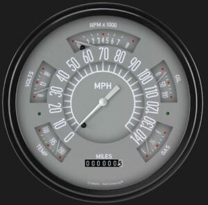Gray 1966 77 Ford Bronco Gauges Classic Instruments Fb66g