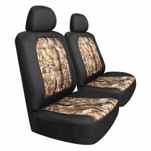 Bully Camouflage Black Canvas Universal Front Seat Covers Suv Truck Quantity 2