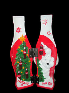 Coca-Cola 2017 Holiday Hinged Collectible Bottle Polar Bears - BRAND NEW