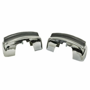 Empi 98 0750 Vw Bug Bumper Guard With Notch For Rubber Strip 1968 73 Pair
