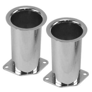 Empi 43 6054 Chrome 4 Tall Velocity Stacks Weber Idf Hpmx Dellorto Pair