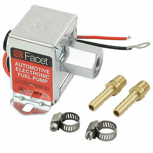 Empi 41 2010 8 Facet Cube Electric Fuel Pump 2 4 Psi Includes Clamps