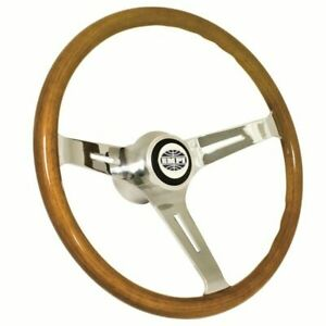 Empi 79 4028 Classic Vw Bug Steering Wheel With Adapter 15 Wood 23mm Grip