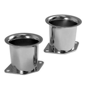 Empi 43 6050 Chrome 2 1 4 Tall Velocity Stacks Weber Idf Hpmx Dellorto Pair