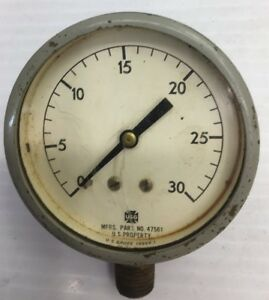 Vintage navy 2 3 4 usg Us Gauge u s property 47561 industrial steam Punk