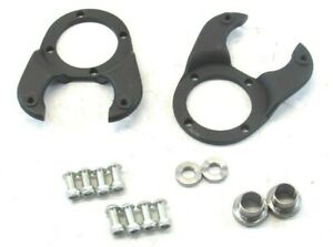 1928 1948 Ford Straight Axle Disc Brake Caliper Bracket Set Black Bpc 1054