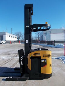 2011 Mitsubishi Caterpillar Esr20n 4k Reach Truck Narrow Aisle Forklift Stand Up