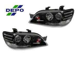 Depo Jdm Black Clear Corner Projector Headlight For 2002 2003 Mitsubishi Lancer