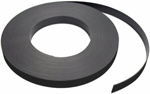 Flexible Magnet Strip With Black Vinyl Coating 1 32 Thick 1 Height 50 Feet