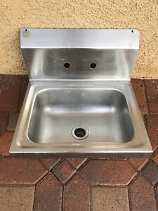 Commercial Stainless Steel Kitchen Hand Wash Sink Wall Mount