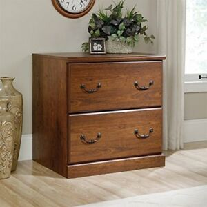 2 Drawer File Cabinet Lateral Cherry Wooden Wood Storage Office Drawer Furniture