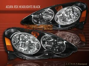 Fit For 2002 2003 2004 Acura Rsx Headlights Jdm Style Black Housing
