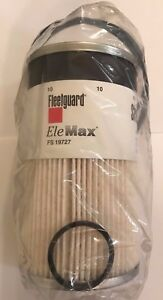 6 Pack Of New And Genuine Fleetguard Fs19727 Fuel water Separator Free Shipping