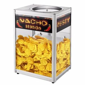 Nacho Machine Warmer Stand Station Commercial Grade Chips Popcorn Peanuts Snacks