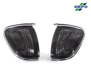 Depo Jdm Smoke Corner Lights For 2001 2004 Toyota Tacoma W Chrome Trim Models