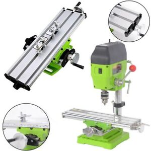 2 Axis Milling Compound Working Table Cross Sliding Bench Drill Vise Fixture Gl