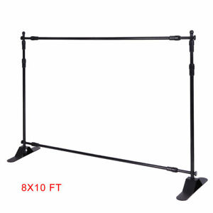 Heavy duty Tube 8x10 Step And Repeat Backdrop Telescopic Banner Stand Adjustable