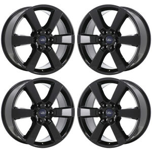 20 Ford F150 Truck Black Wheels Rims Factory Oem 2015 2016 2017 2018 Set 10005
