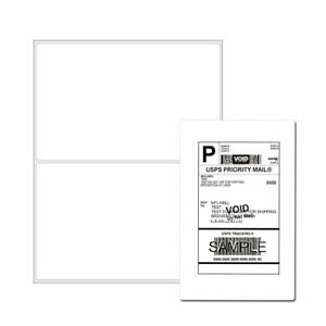 200 4000 Label Half Sheet 8 5x5 5 Shipping Labels Ebay Paypal Self Adhesive