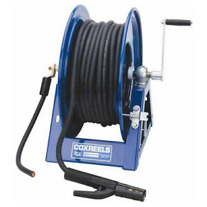 Hand Crank Welding Cable Reel For Arc Welding Holds Up To 600 Of 2 Cable Lot