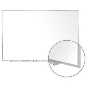 Aluminum Frame Porcelain Magnetic Whiteboard 48 1 2 X 60 1 2 Lot Of 1