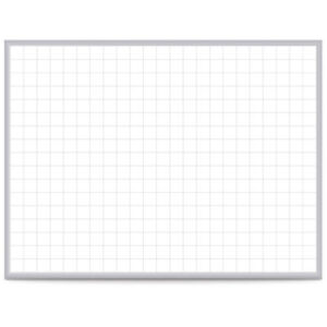 Ghent 174 Grid 36 X 48 Whiteboard Steel With Aluminum Frame 2 Grid