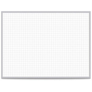 Ghent 174 Grid 48 X 96 Whiteboard Steel With Aluminum Frame 1 Grid