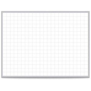 Ghent 174 Grid 48 X 96 Whiteboard Steel With Aluminum Frame 2 Grid