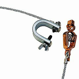 Hubbell Gcsi ac 10 Alligator Clip C clamp W 10 Ft 7x19 Insulated Stranded