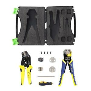Wire Crimper Kit Crimping Pliers Stripper Cord End Terminals W Plastic Box R3n7