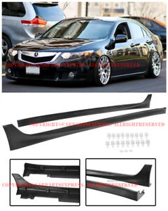 Jdm Style Side Skirts Rocker Panels Molding Areo Kit For 09 14 Acura Tsx Sed