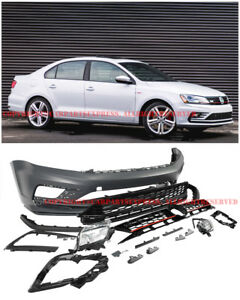Gli Style Font Bumper Cover Kit W Lower Grille For 11 Up Vw Jetta Sedan