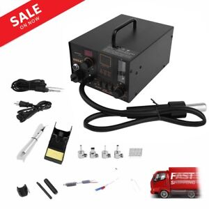 Hot 968a 4 In 1 Digital Soldering Iron Hot Air Station Complete Kit Usa Bhd
