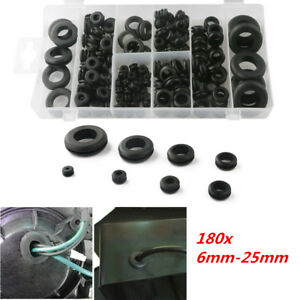 180pcs Rubber Grommet Car Hole Sleeve Plug Electrical Wire Protector Gasket Seal