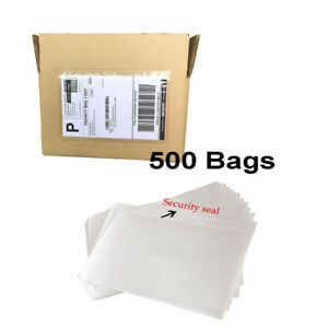 1000x Clear Adhesive Top Loading Packing List Shipping Label Envelopes 7 5x5 5