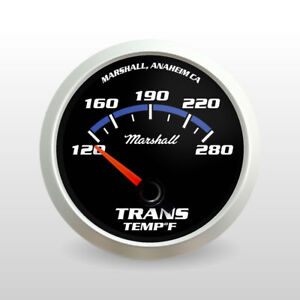 C2 Blueline Transmission Temperature Gauge Silver Bezel Cobalt Blue Accents