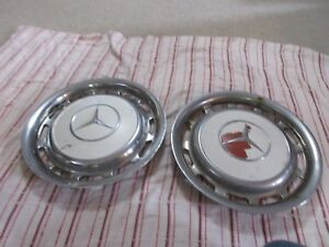 Set Of 2 Vintage Mercedes Benz Pagode Distressed Hubcap Wheel Covers 1960 1979
