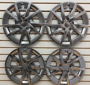 New 2012 2013 Toyota Prius V Sw Dark Gray Hubcap Wheelcover Set 16 Hubcaps