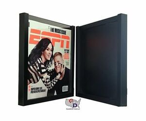 Lot Of 2 Espn Magazine Display Case Frame Uv Protecting By Gameday Display