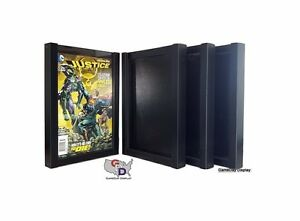Lot Of 4 Comic Book Display Case Frame Currect Sized Comics By Gameday Display