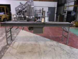 17 5 Inch X 113 Inch Powered Roller Conveyor With Coder