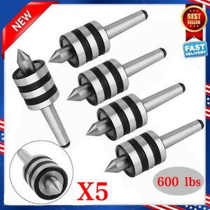 5x Mt2 Live Center Morse Taper 2mt Triple Bearing Lathe Medium Duty Cnc New Bp