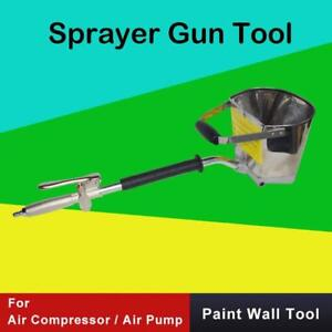 4 Jet Cement Mortar Spray Gun Sprayer Hopper Concrete Stucco Paint Wall Tool M2