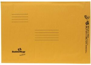 Duck Brand 5 Bubble Wrap Cushioned Tan Kraft Envelope 10 5 X 15 25pk