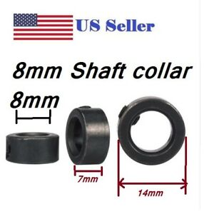 8mm Shaft Lock Collar Black Oxide Steel