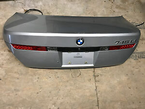 Bmw Oem E65 E66 Rear Back Door Lid Gate Cover Exterior Light Lamp Trunk Silver