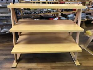 3 Tier Commercial Retail Display Shelving used