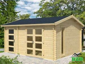 15 x12 Bzb Log Cabin Kit And Shed 114 Sq ft Cabin And 57 Sq ft Storage