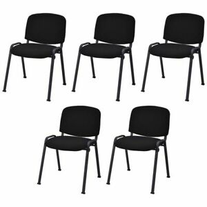Set Of 5 Conference Chair Elegant Design Office Waiting Room Guest Reception